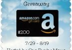 Dog Days of Summer $200 Amazon Giveaway {Closed}