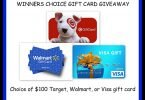 Winner's Choice $100 Gift Card Giveaway {Closed}
