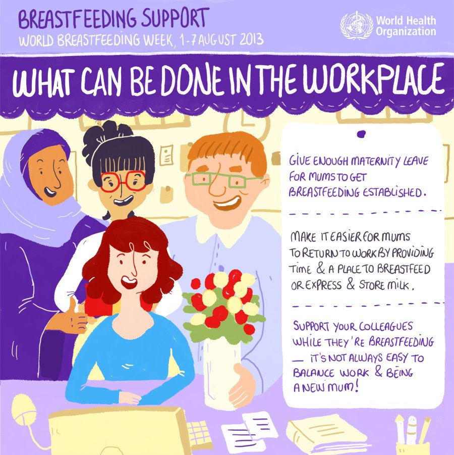 WHO breastfeeding graphic series: Colleagues