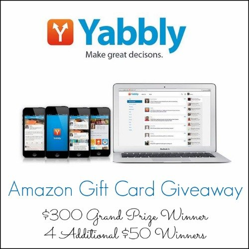 Yabbly $300 & 4 X $50 Amazon Gift Cards Giveaway | This West Coast Mommy