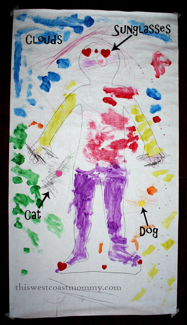 Preschool Craft: Life-Size Self-Portrait