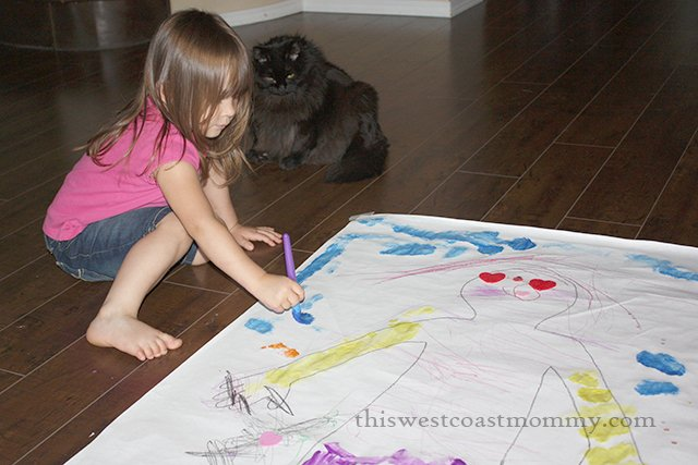 painting her self-portrait
