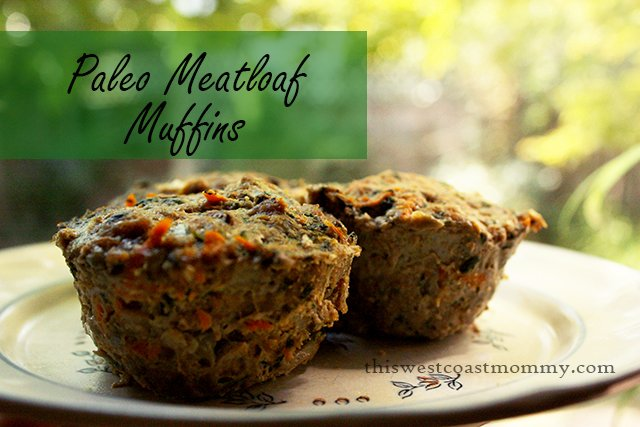 These delicious Paleo Meatloaf Muffins are made with coconut flour to be gluten-free. Yummy hot or cold, they freeze well for later too!