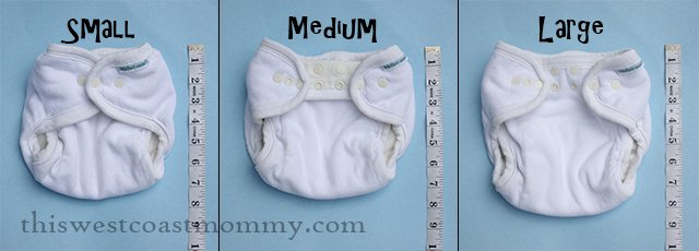 Mother-ease One Size Fitted Diaper sizes