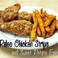 paleo chicken strips & sweet potato fries