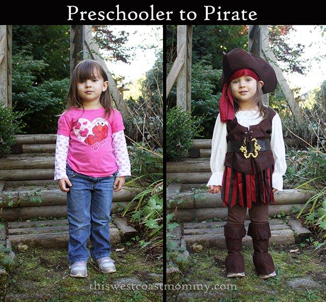 From average preschooler to swashbuckling pirate!