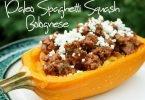 Paleo Spaghetti Squash Bolognese #Recipe