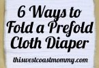 6 Ways to Fold a Prefold Cloth Diaper