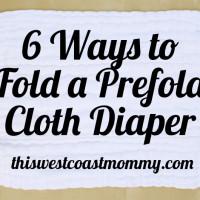 6 ways to fold a prefold