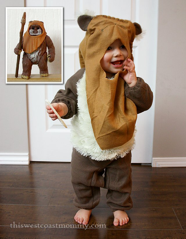 This Ewok costume is the cutest toddler Star Wars costume I've ever seen!