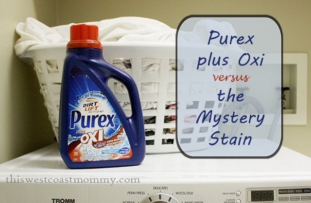 Purex plus Oxi vs. the Mystery Stain | This West Coast Mommy