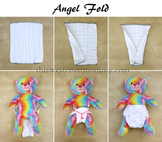 How to make an angel fold with your prefold cloth diaper.