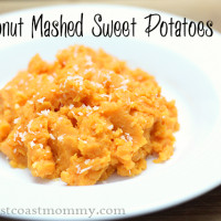 holiday coconut mashed sweet potatoes