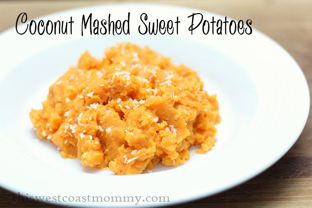 Coconut Mashed Sweet Potatoes #Paleo #Dairyfree #Recipe - perfect for holiday dinners!