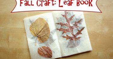 Fall Craft: Leaf Book - This West Coast Mommy