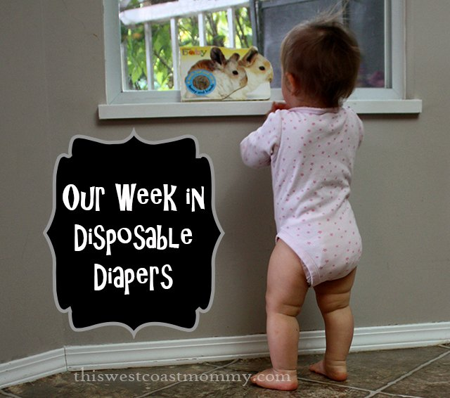 Yeast diaper rash and our week in disposable diapers | This West Coast Mommy