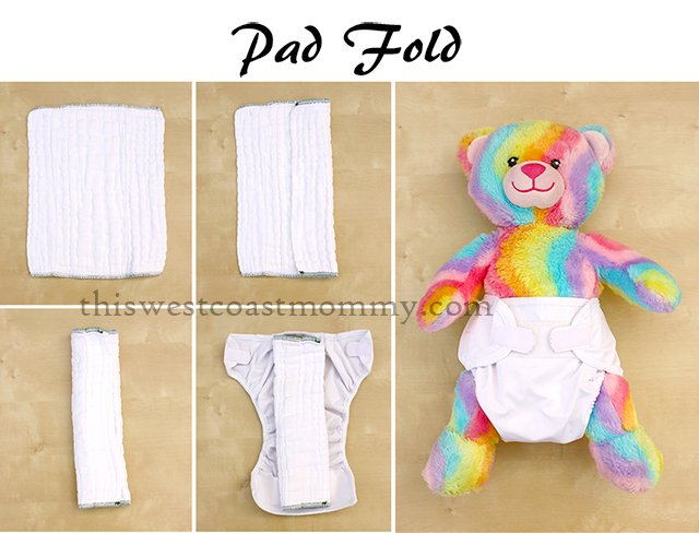 How to pad fold a prefold cloth diaper.