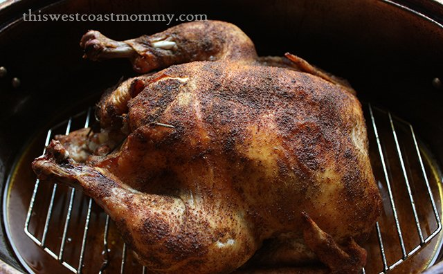 Spice Roasted Chicken with Apple Stuffing #Paleo #Recipe - This West Coast Mommy