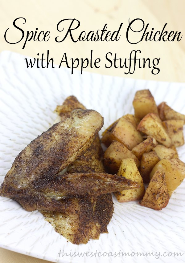 Spice Roasted Chicken with Apple Stuffing