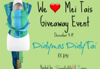 Are You Ready for the We Love Mei Tais Giveaway?