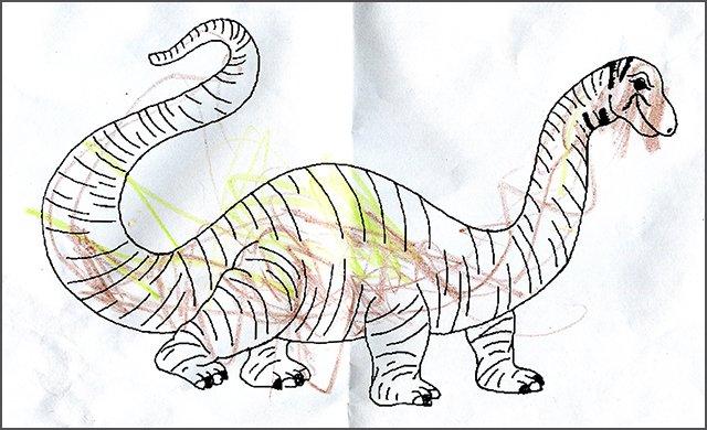 Dinosaur Colouring Page