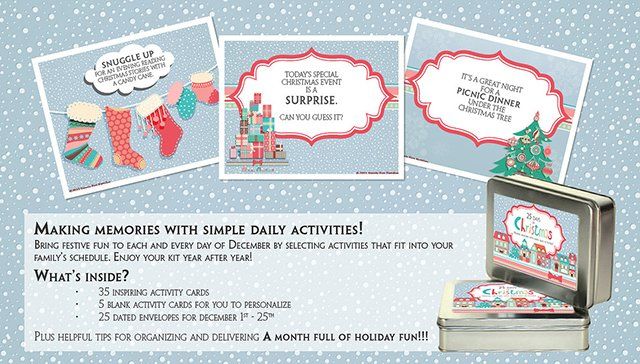 Bring home the 25 Days of Christmas kit to create wonderful family memories year after year #HolidayGiftGuide