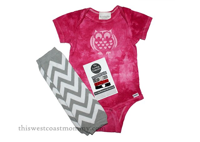 These hand dyed and hand painted bodysuits from The Lovebug Collection make a beautiful present for babies up to 18 months. #HolidayGiftGuide