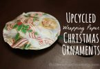 Christmas Craft: Upcycled Wrapping Paper Christmas Ornaments