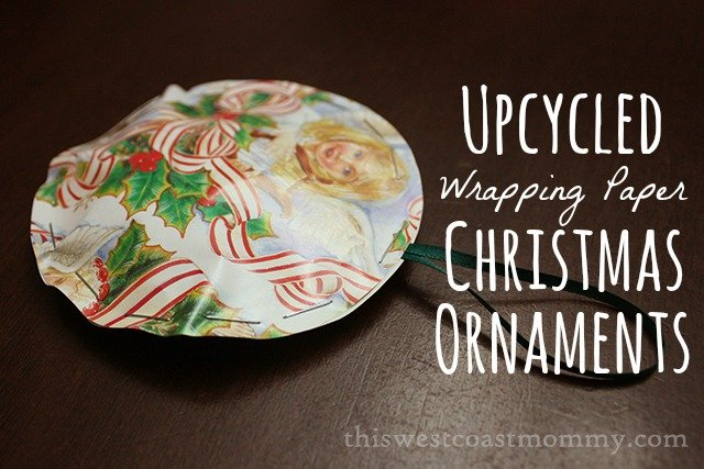 Christmas craft upcycled wrapping paper christmas for Christmas craft wrapping paper