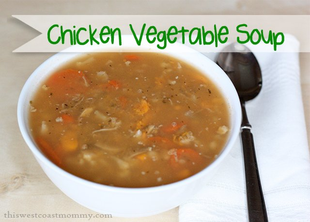 Chicken Vegetable Soup #recipe from scratch - #paleo and #Whole30