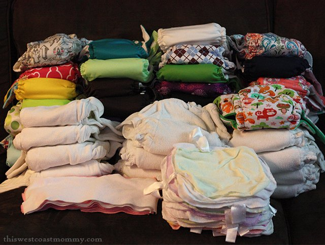 #Clothdiaper stash shot