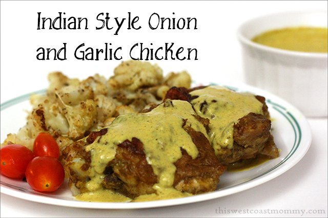 Indian style onion and garlic chicken recipe - deliciously paleo and whole30 compliant