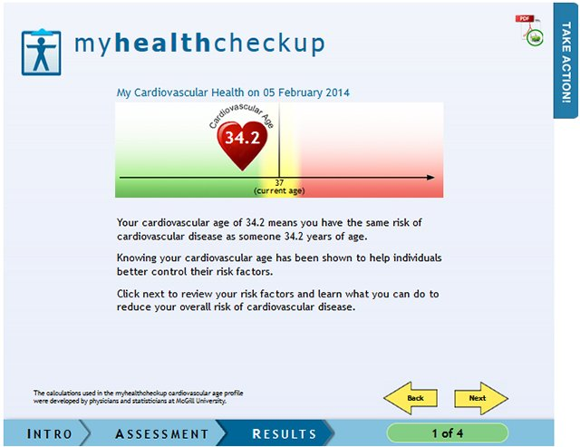Take the Heart Age Calculator test on the Shoppers Drug Mart website and take control of your heart health.