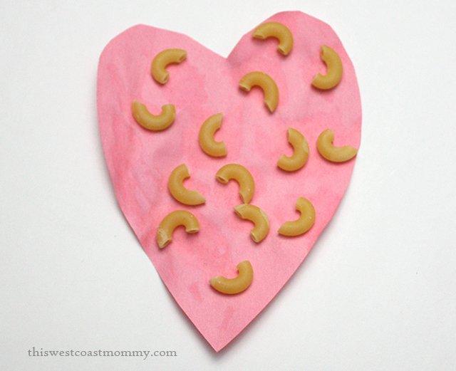macaroni heart