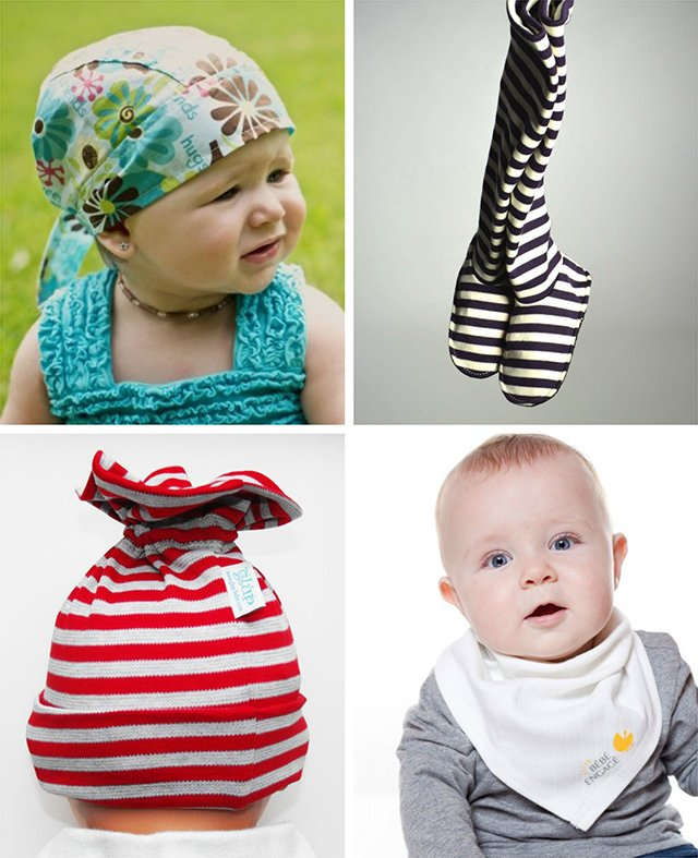 Rose ou Bleu carries original, stylish, boutique quality brands like these Glup baby accessories made in Quebec, Canada.