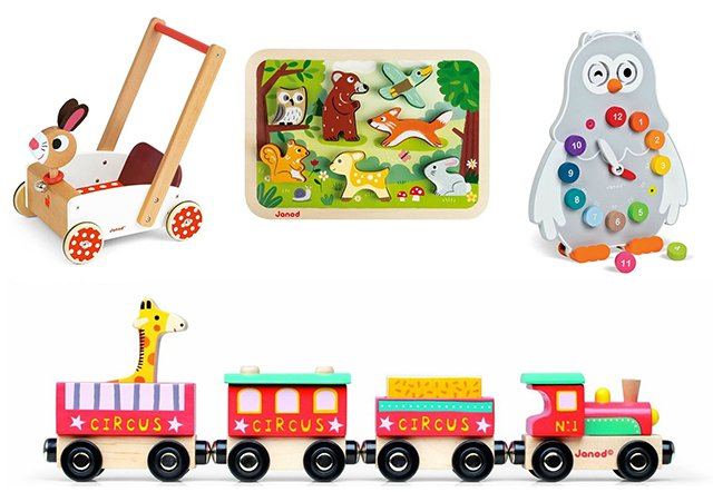 Rose ou Bleu carries original, stylish, boutique quality brands like these Janod toys made in France.