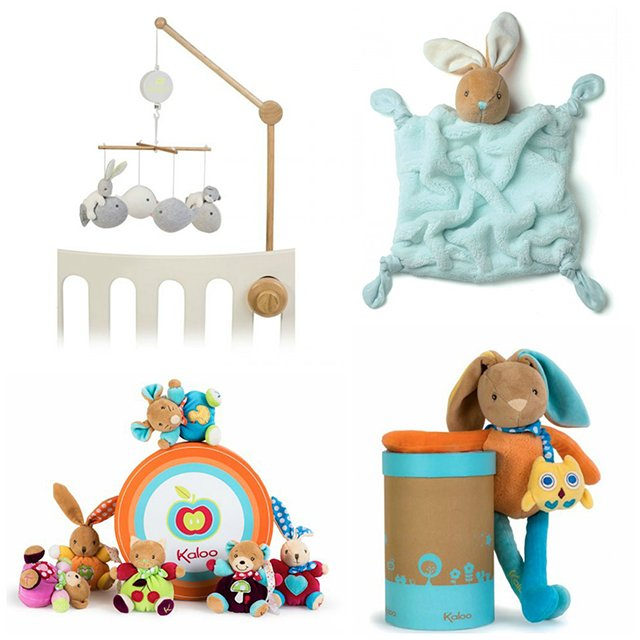 Rose ou Bleu carries original, stylish, boutique quality brands like these Kaloo plush toys made in France.