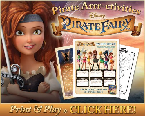 Get your FREE Printables for The Pirate Fairy!