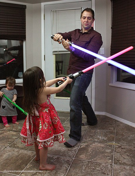 Light sabers with Daddy.