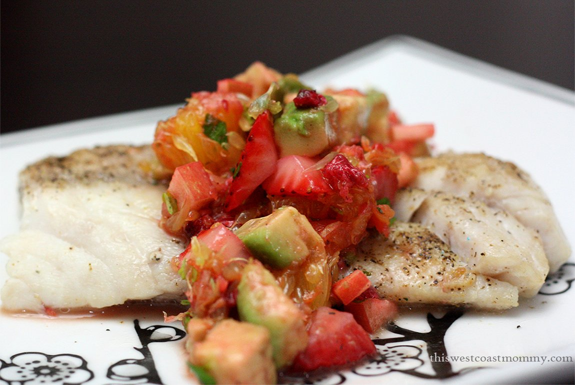 Pan fried fish with fruit salsa recipe this west coast for Fruit salsa for fish