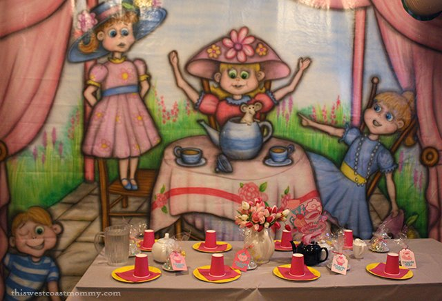 or tea party we picked the tea party of course