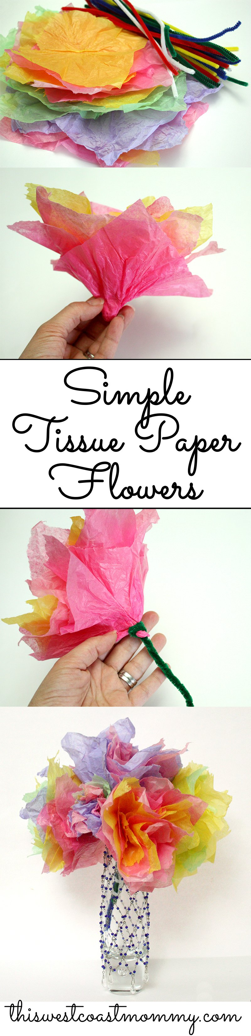 Spring Craft Tissue Paper Flowers This West Coast Mommy