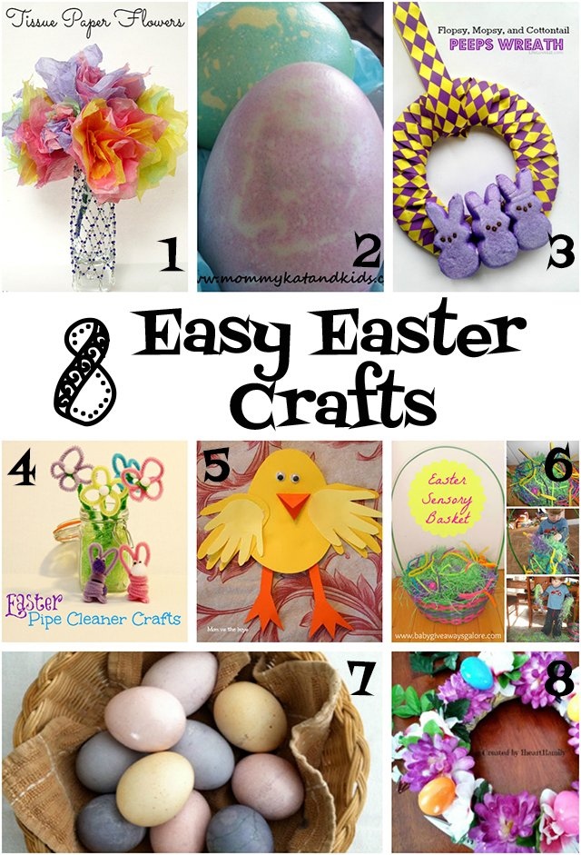 8 Easy Easter Crafts - some great crafts for younger kids!