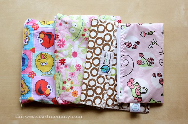 13 Cloth Alternatives for Earth Day - reusable snack bags come in all sorts of cute prints