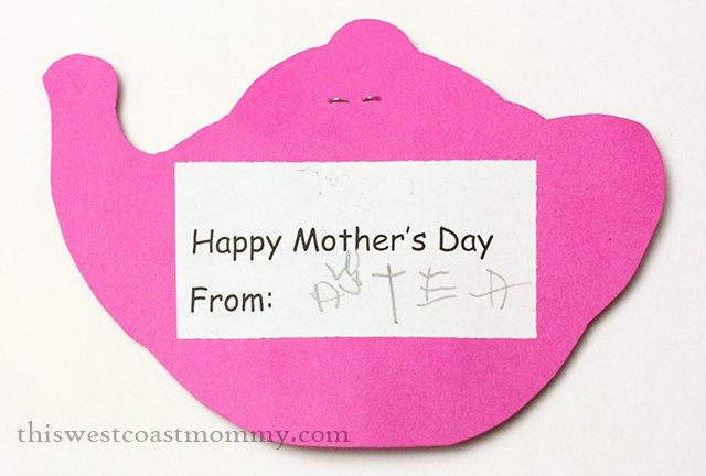 Mother's Day tea invitation