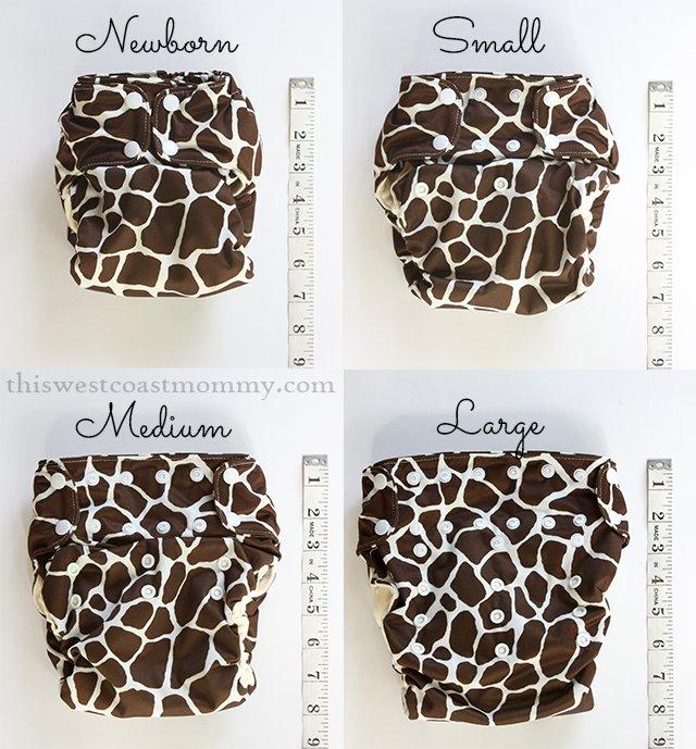 Smart Bottoms Smart One 3.1 size comparison