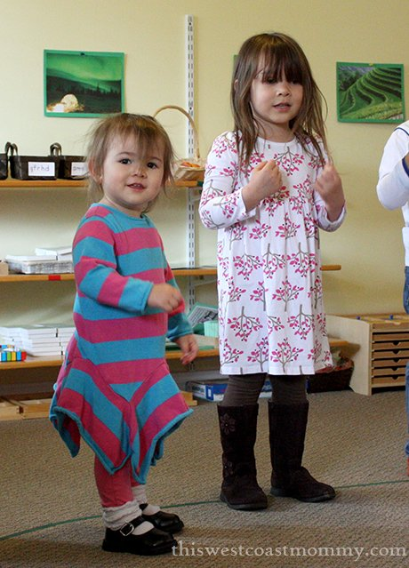 Teagan and Keira singing at preschool