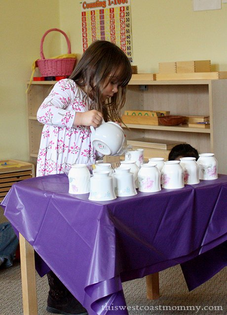Mother's Day tea ceremony