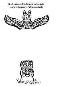 Canada Doodles Stanley Park Totem Pole