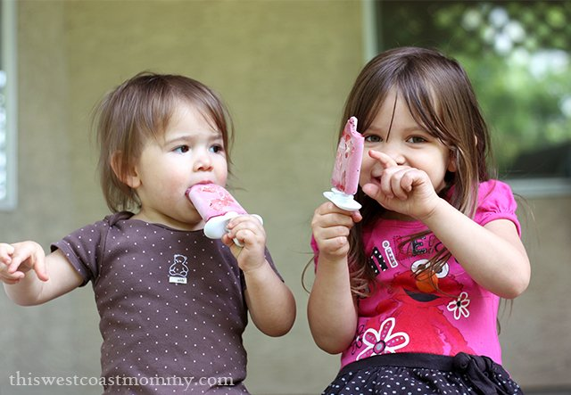 Enjoying Tropical Pineapple & Mixed Berry Ice Pops